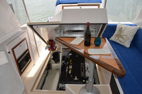 Bridedeck with Engine Hatch Open