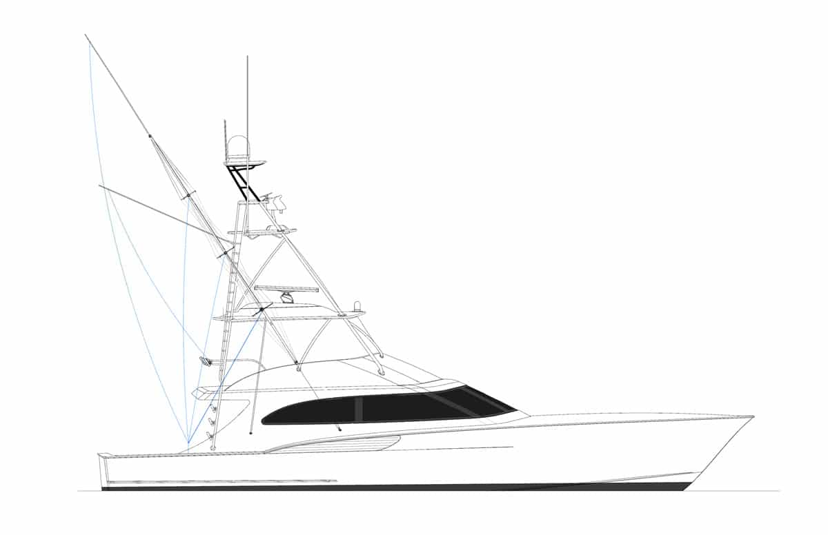 Jarrett Bay 64 Convertible Hull 65 Rendering