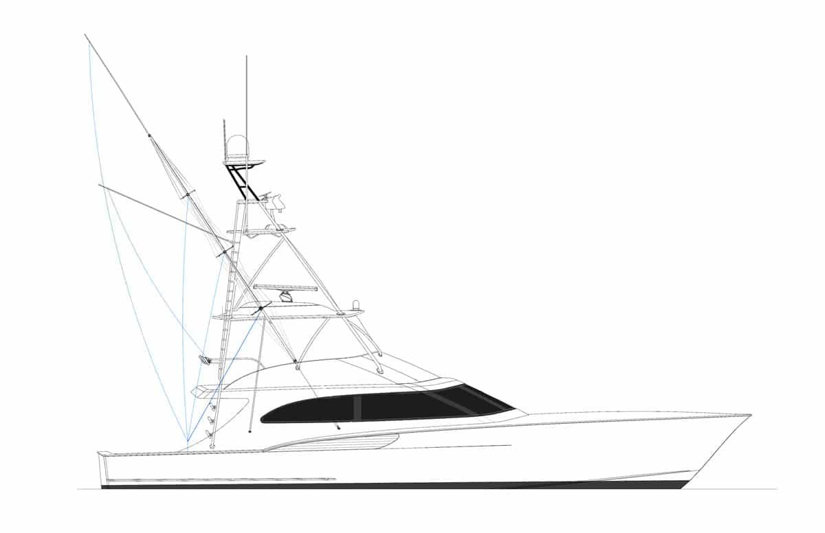 Jarrett Bay 64 Convertible Hull 65 Rendering