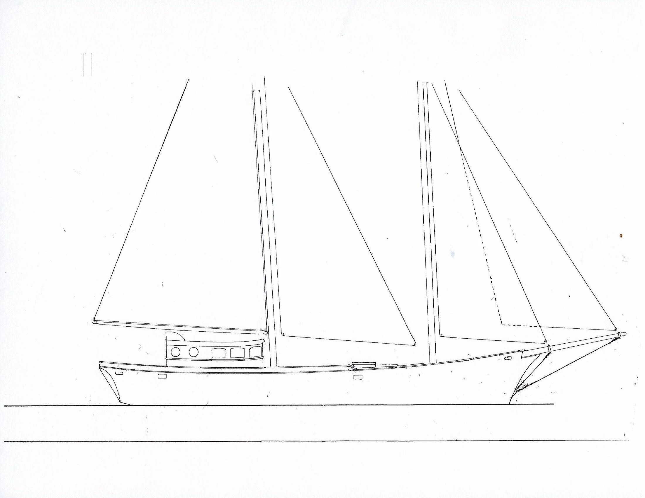 Schooner Staysail