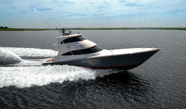 Viking 68 Enclosed Bridge Starboard Side