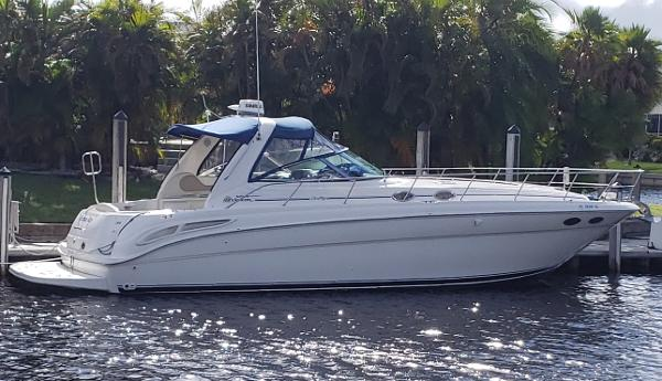 Sea Ray 380 Sundancer with Diesels From across the canal...