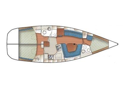 Three cabin layout.