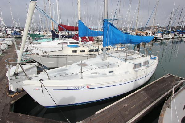 Coronado  sloop In her Sausalito YH slip