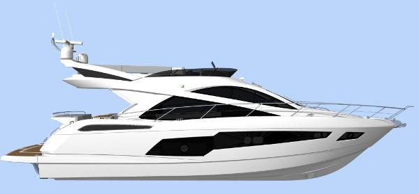 Sunseeker Manhattan 55 Side Profile
