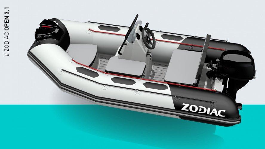 Zodiac Open 3.1 Hypalon Donker Grijs