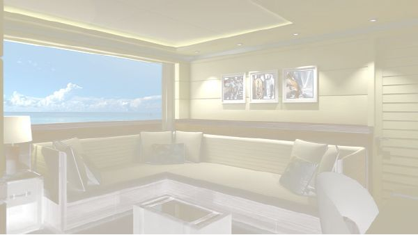Curvelle Quaranta forward portside sitting room layout
