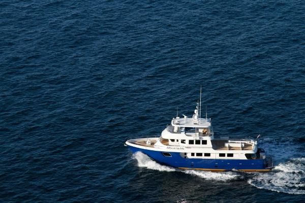 AllSeas Expedition Yachts Expedition LRC Aerial view cruising