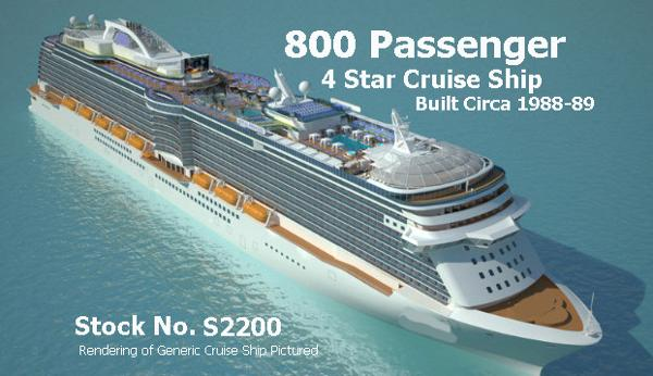 Modern Cruise Ship-800 Passengers -Stock No. S2200