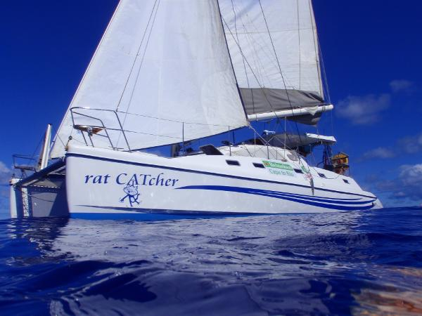 Island Spirit 401 Catamaran Under sail