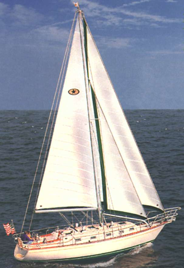 Island Packet 380 Stock Sailing Photo
