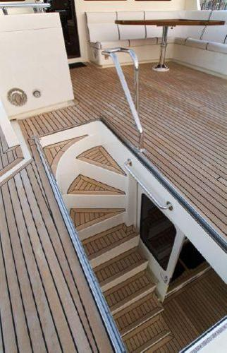 Stairwell to Aft Deck