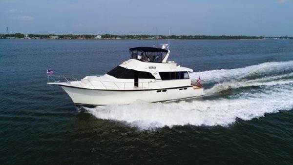Ocean Yachts 56 Cockpit Motor Yacht Port Profile