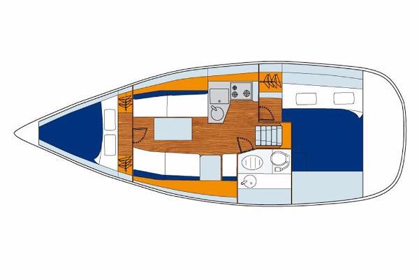 Jeanneau Sun Odyssey 33i Layout