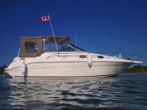 Sea Ray 270 Sundancer at anchor