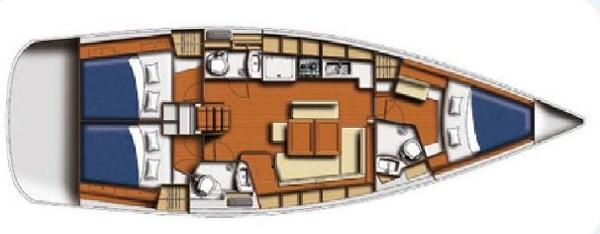 Beneteau Oceanis 43 Layout 3 cabin/3 head