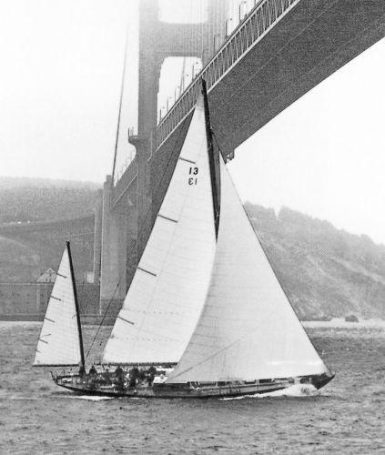 Sparkman & Stephens CCA Yawl Sailing the Bay