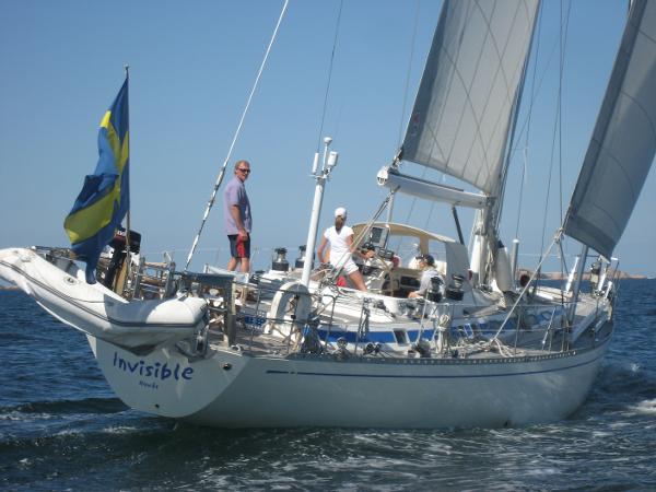 Nautor Swan 61-006 Sailing stern view