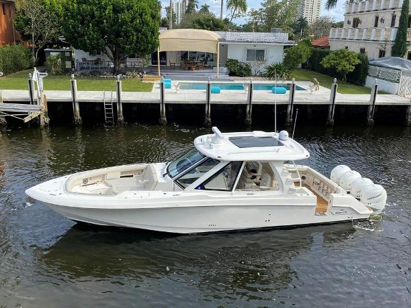 Boston Whaler 38 Realm Main -NOTE: Engines has been painted dark grey