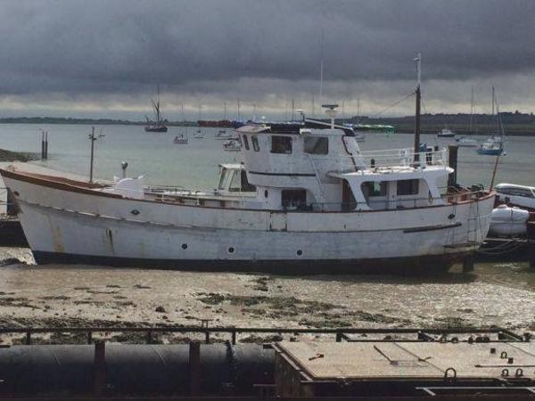 Trawler Malahide Beaver Class In mud berth