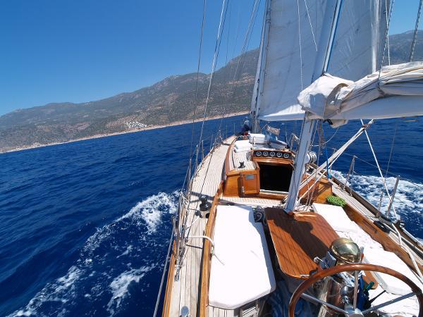 Classic Sailing yacht exterior