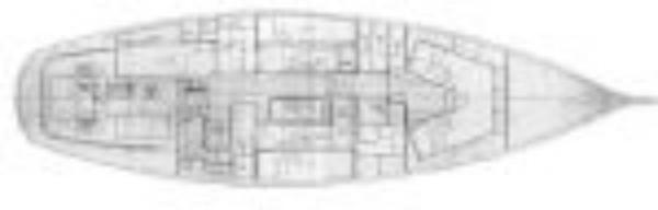 Classic Sailing yacht layout