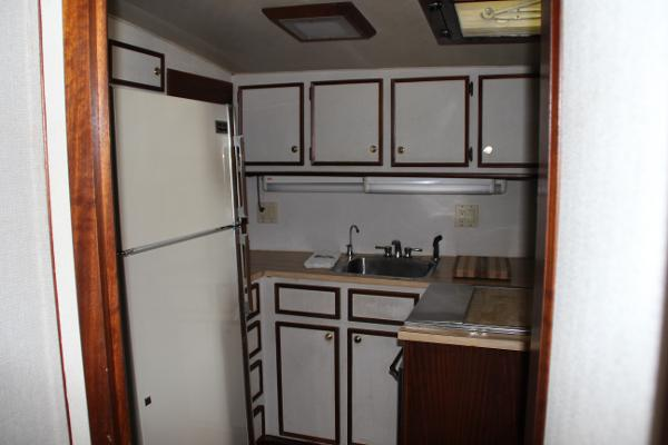 Galley,  Full Fridge, Stove, Oven, SS Sink