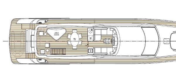 Aqualiner 77 Sundeck Layout Plan