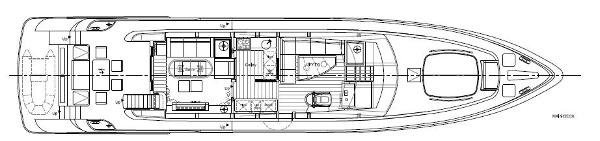 Aqualiner 77 Main Deck Layout Plan