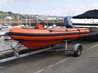 Avon Searider 4 Meter On trailer bow