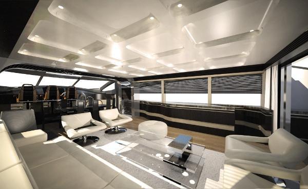 Sunseeker 101 Sport Yacht Saloon