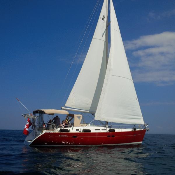 Beneteau America 423 under sail