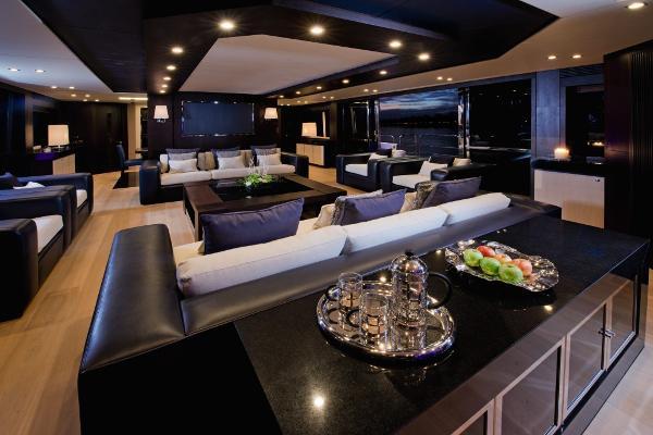 Sunseeker 130 Sport Yacht Saloon