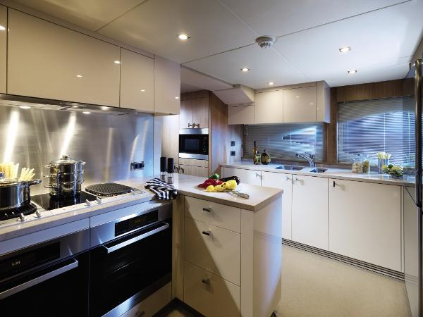 Sunseeker 130 Sport Yacht Galley