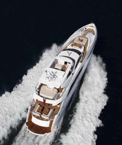 Sunseeker 115 Sport Yacht Aerial View