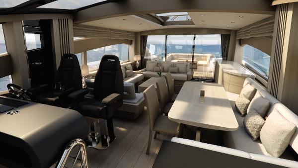 Sunseeker 80 Sport Yacht Helm