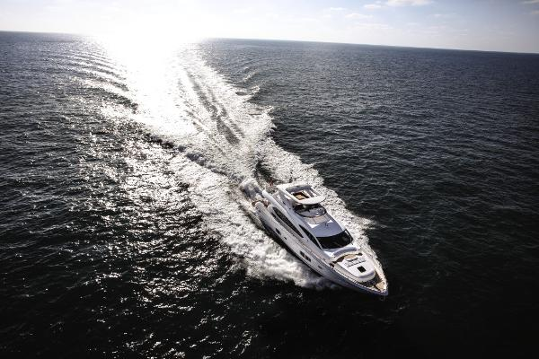 Sunseeker 88 Yacht Aerial View