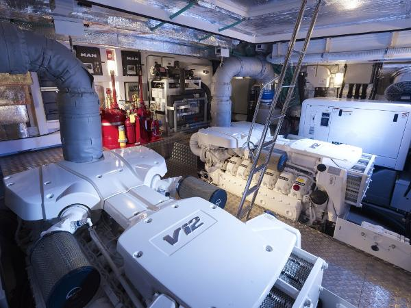 Sunseeker 80 Yacht Engine Room