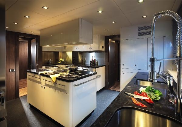 Sunseeker 40M Yacht Galley
