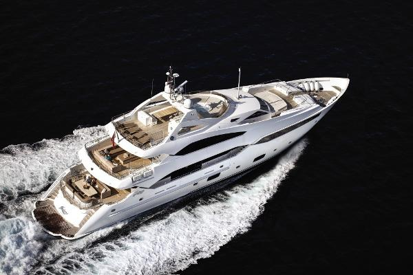 Sunseeker 40M Yacht Aerial View