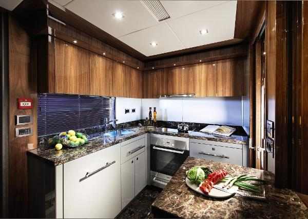 Sunseeker San Remo Galley