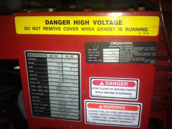 Generator info