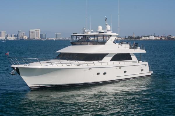 Ocean Alexander Motor Yacht Port Profile View