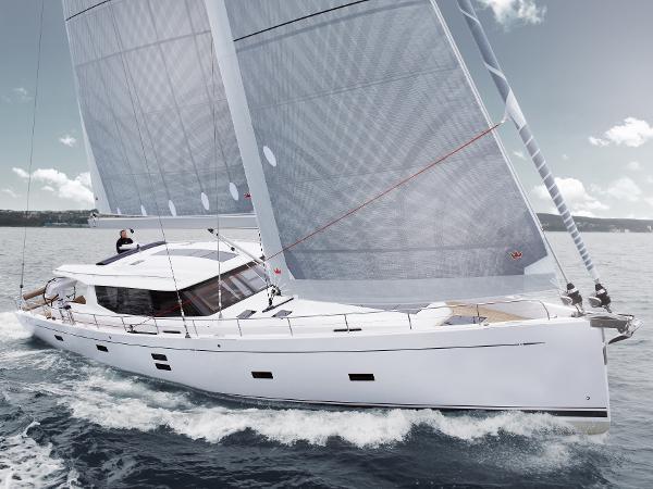 Moody 54 Under Sail