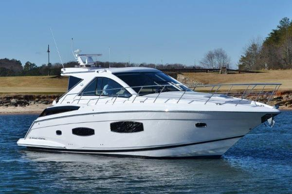 Regal 53 Sport Coupe Starboard profile at the golf course