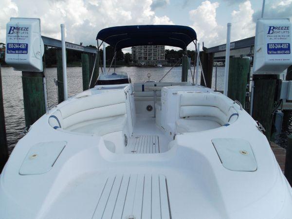 Cobia 256 Coastal Deck Bow looking aft