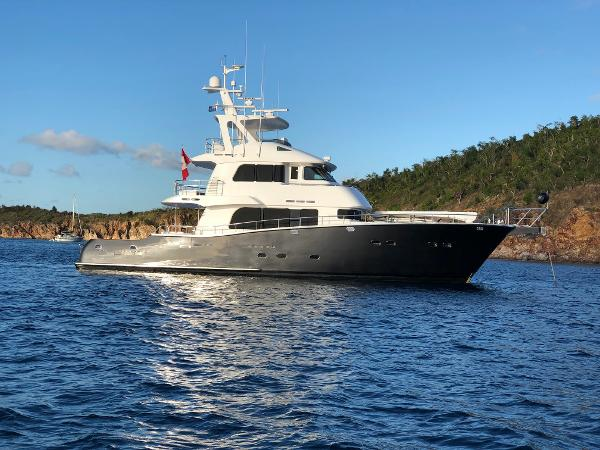 Nordhavn 75 Expedition Yachtfisher Exterior -Starboard Profile