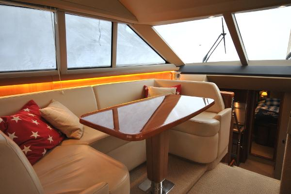 Princess 54 Helm Seating / Dining Area