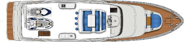 Monte Fino ECHO 85 Flybridge Layout Plan