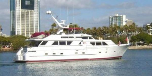 Broward Motoryacht Starboard Porfile